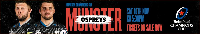 Ospreys v Munster